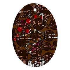 Brown confusion Ornament (Oval)