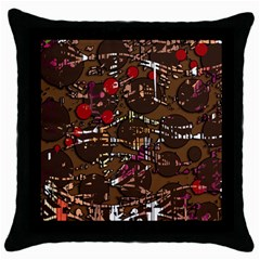 Brown confusion Throw Pillow Case (Black)