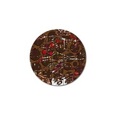 Brown confusion Golf Ball Marker (10 pack)
