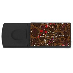Brown confusion USB Flash Drive Rectangular (1 GB)