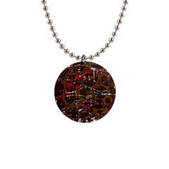 Brown confusion Button Necklaces