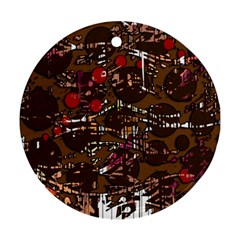 Brown confusion Round Ornament (Two Sides)