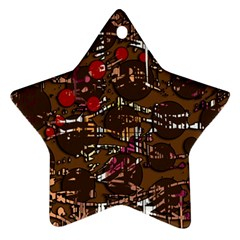 Brown confusion Star Ornament (Two Sides)