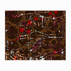 Brown confusion Small Glasses Cloth (2-Side)