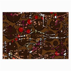 Brown confusion Large Glasses Cloth (2-Side)