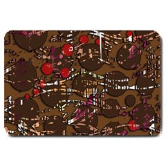 Brown confusion Large Doormat