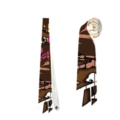 Brown confusion Neckties (One Side)