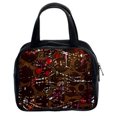 Brown confusion Classic Handbags (2 Sides)