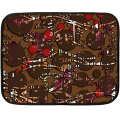 Brown confusion Double Sided Fleece Blanket (Mini)