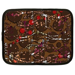 Brown confusion Netbook Case (XXL)