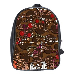 Brown confusion School Bags(Large)