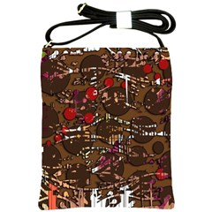 Brown confusion Shoulder Sling Bags