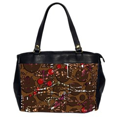 Brown confusion Office Handbags (2 Sides)