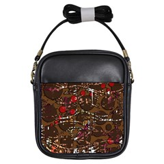 Brown confusion Girls Sling Bags