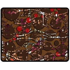 Brown confusion Fleece Blanket (Medium)