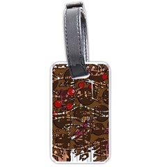 Brown confusion Luggage Tags (One Side)