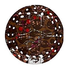 Brown confusion Ornament (Round Filigree)