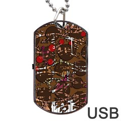 Brown confusion Dog Tag USB Flash (Two Sides)