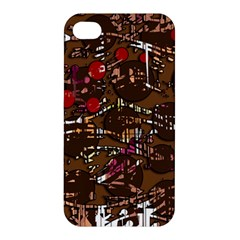 Brown confusion Apple iPhone 4/4S Premium Hardshell Case