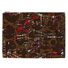 Brown confusion Cosmetic Bag (XXL)