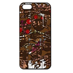 Brown confusion Apple iPhone 5 Seamless Case (Black)