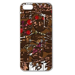 Brown confusion Apple Seamless iPhone 5 Case (Clear)