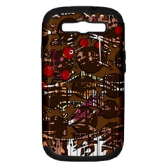 Brown confusion Samsung Galaxy S III Hardshell Case (PC+Silicone)