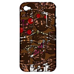 Brown confusion Apple iPhone 4/4S Hardshell Case (PC+Silicone)