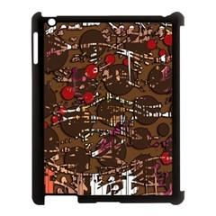 Brown confusion Apple iPad 3/4 Case (Black)