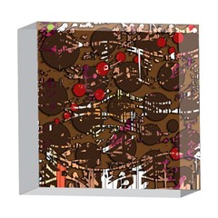 Brown confusion 5  x 5  Acrylic Photo Blocks