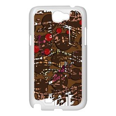 Brown confusion Samsung Galaxy Note 2 Case (White)