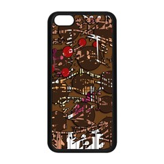 Brown confusion Apple iPhone 5C Seamless Case (Black)