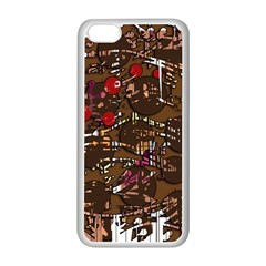Brown confusion Apple iPhone 5C Seamless Case (White)