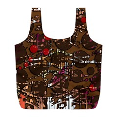 Brown confusion Full Print Recycle Bags (L)