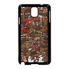 Brown confusion Samsung Galaxy Note 3 Neo Hardshell Case (Black)