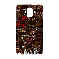 Brown confusion Samsung Galaxy Note 4 Hardshell Case