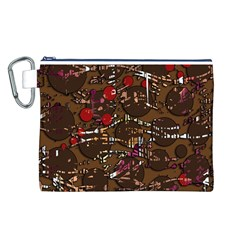Brown confusion Canvas Cosmetic Bag (L)