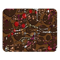 Brown confusion Double Sided Flano Blanket (Large)