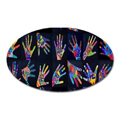 Art With Your Hand Oval Magnet