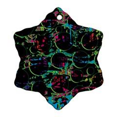 Graffiti style design Snowflake Ornament (2-Side)
