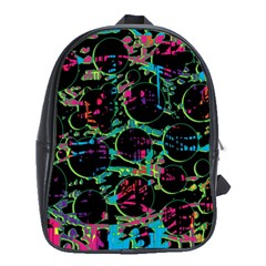 Graffiti style design School Bags (XL)
