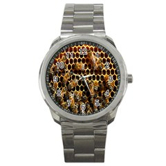 Bees On A Comb Sport Metal Watch