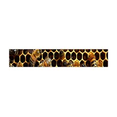 Bees On A Comb Flano Scarf (Mini)