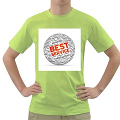 Best Service Green T Shirt