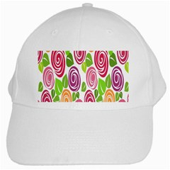 Blue Rose White Cap