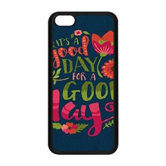 C mon Get Happy With A Bright Floral Themed Print Apple Iphone 5c Seamless Case (black)