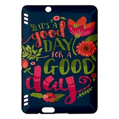 C mon Get Happy With A Bright Floral Themed Print Kindle Fire Hdx Hardshell Case