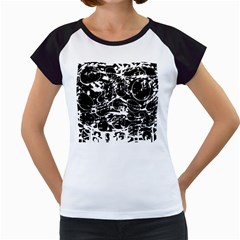 Black and white confusion Women s Cap Sleeve T