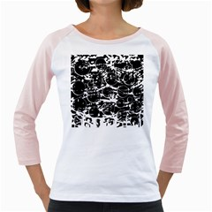 Black and white confusion Girly Raglans