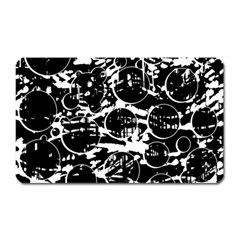 Black and white confusion Magnet (Rectangular)